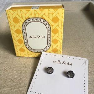 Stella & Dot Relic Druzy Studs - BNIB